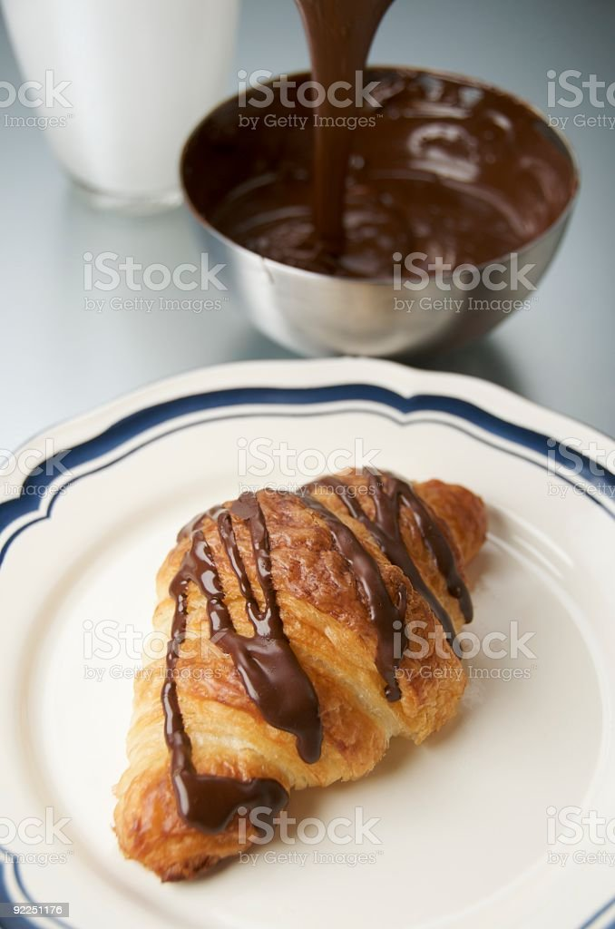 Chocolate Croissant royalty-free stock photo