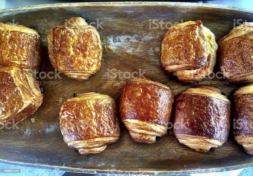 Chocolate Croissants stock photo
