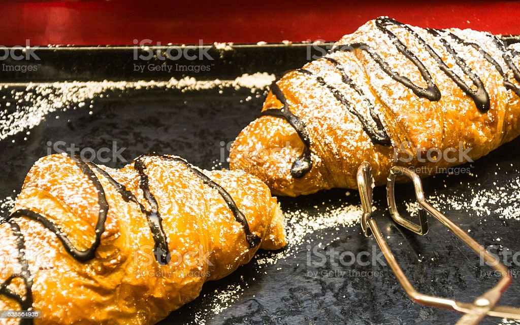 Chocolate Croissants stock photo