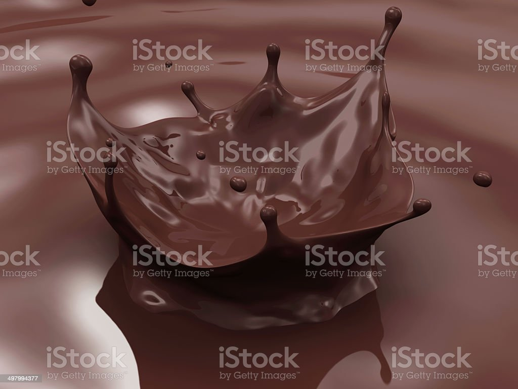 Chocolate Crown Splash Abstract Background stock photo