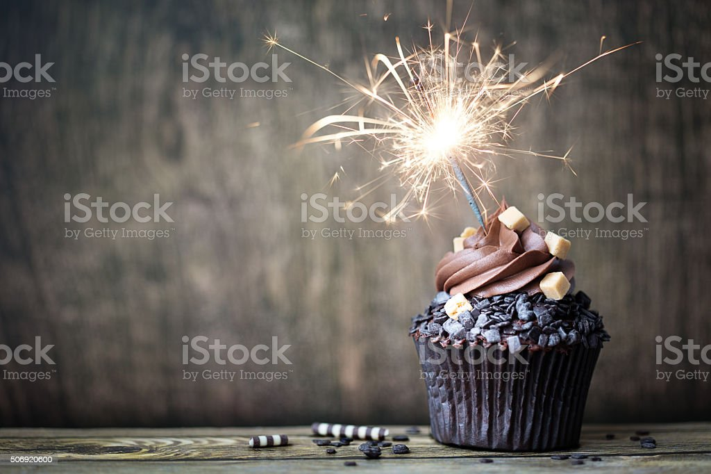 Chocolate cupcake stock photo