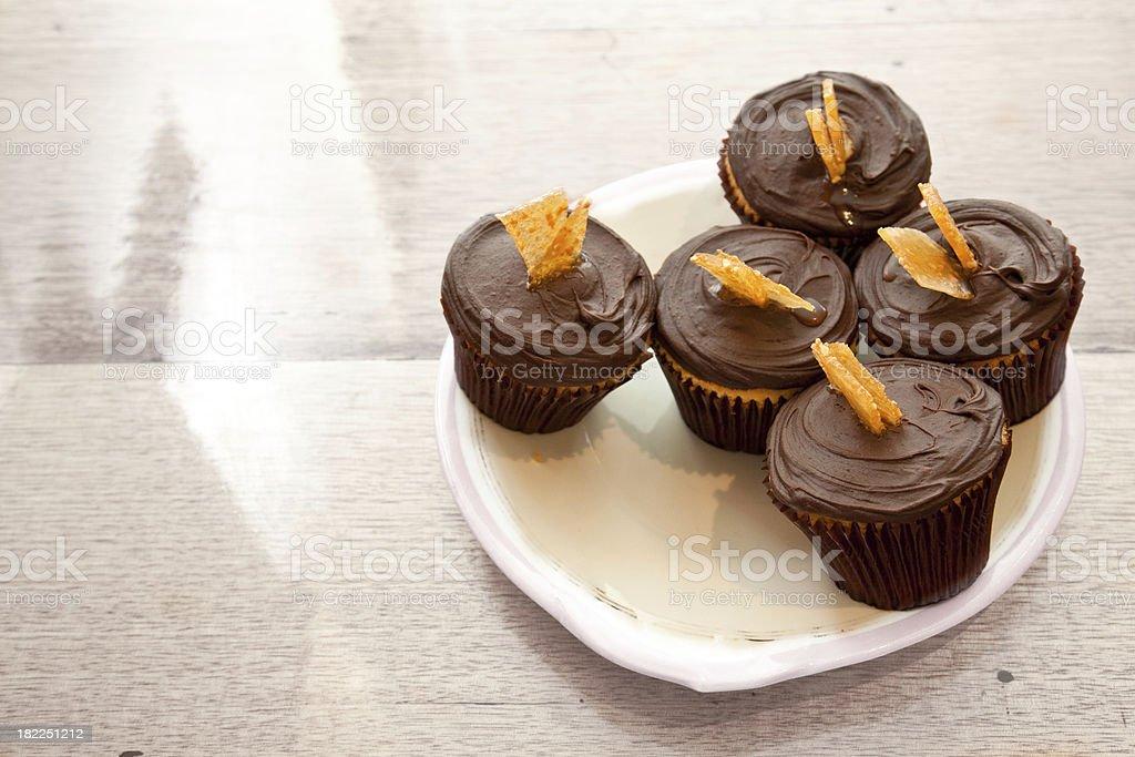 Schokolade cupcakes. Lizenzfreies stock-foto