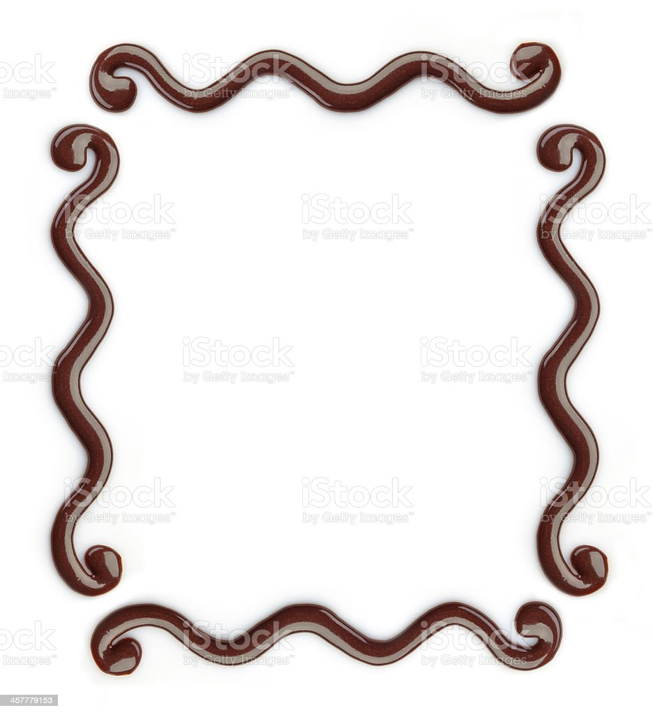 chocolate decor frame stock photo