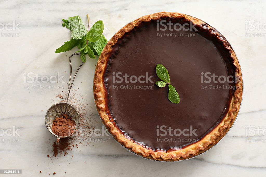 Chocolate Derby Mint Pie stock photo
