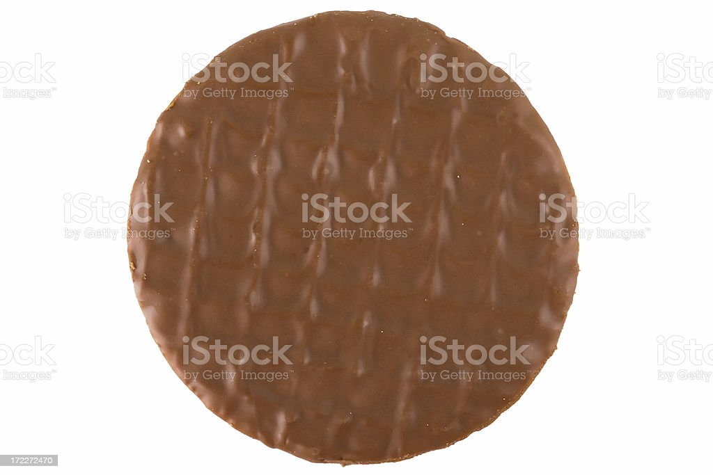 Chocolate Digestive Biscuit top down stock photo
