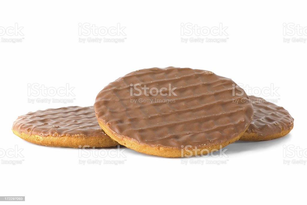 Chocolate Digestive Biscuits stock photo