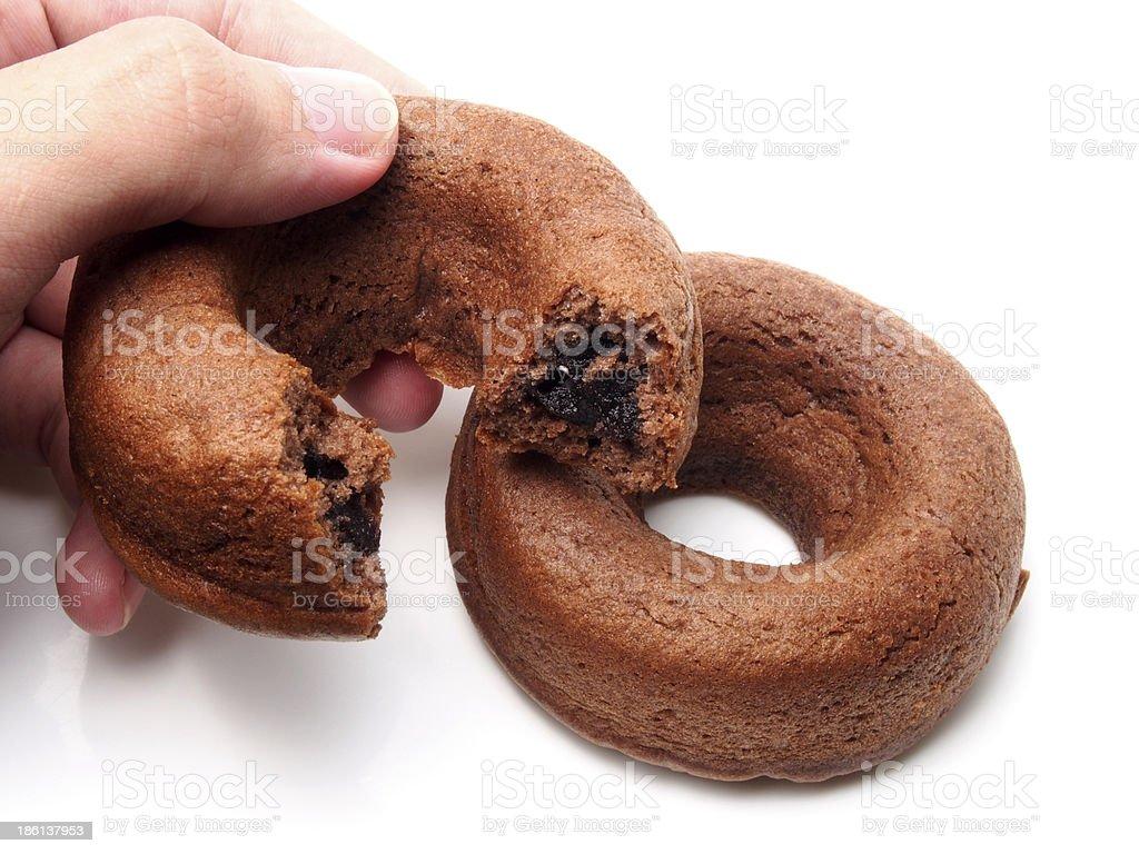 Chocolate donut cake royalty-free stock photo