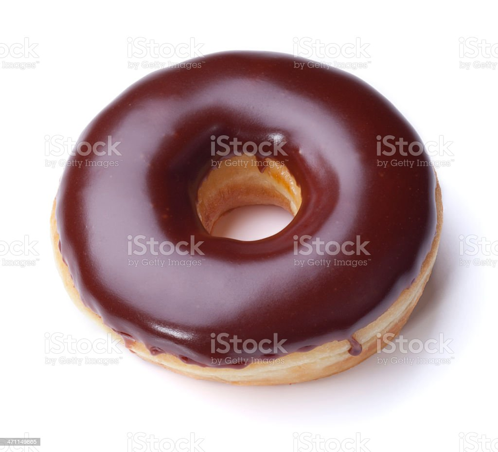 Chocolate Donut + Clipping Path stock photo