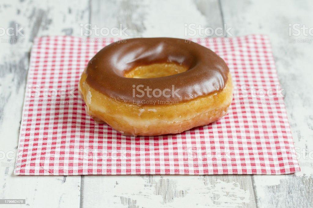 Chocolate donut royalty-free stock photo