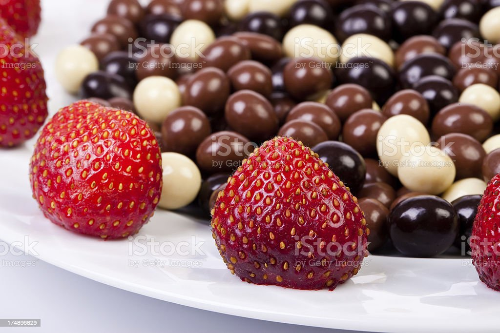 chocolate dragees royalty-free stock photo