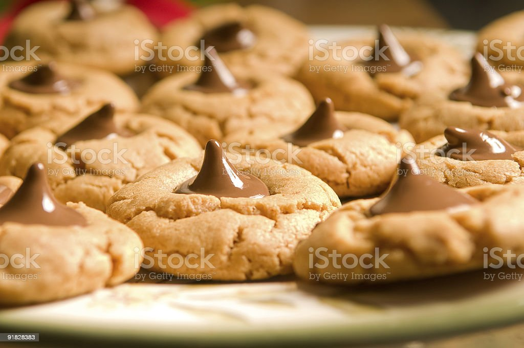 Chocolate drop cookies royalty-free stock photo