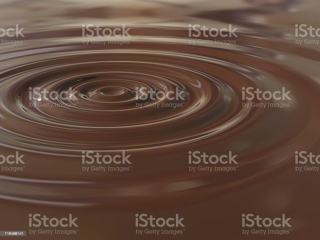 Chocolate drop stock photo
