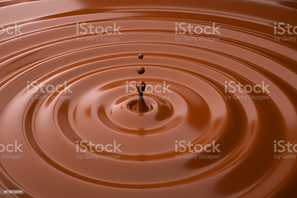 Chocolate drops stock photo