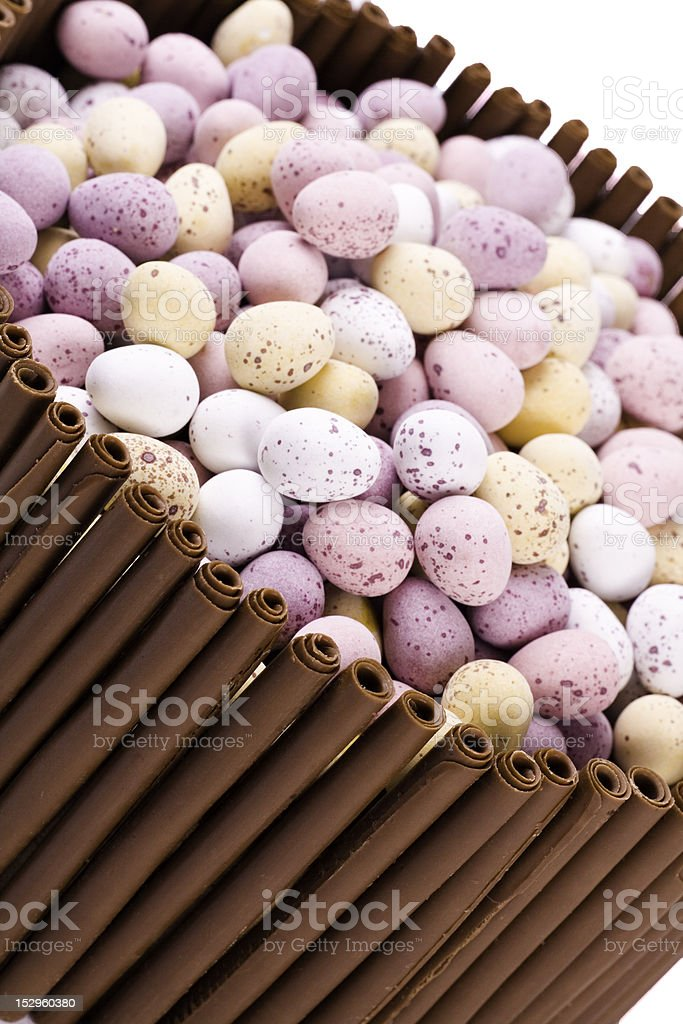 Chocolate Easter Cake royalty-free stock photo