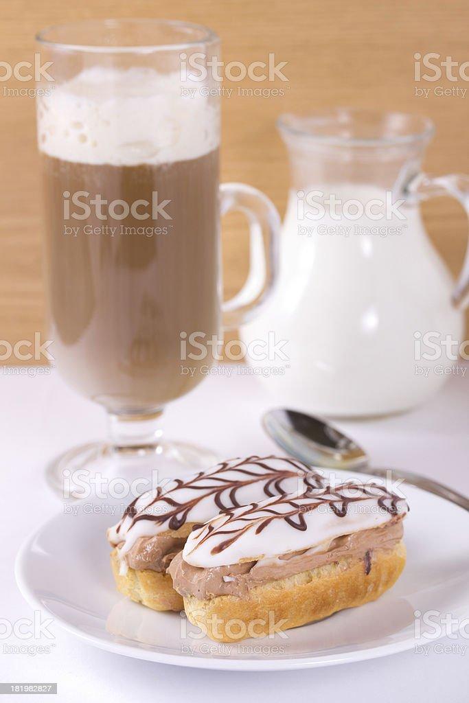 Chocolate eclairs. royalty-free stock photo