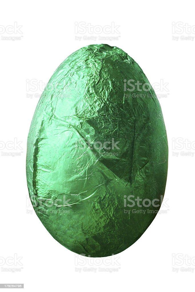 Chocolate Egg - Green royalty-free stock photo