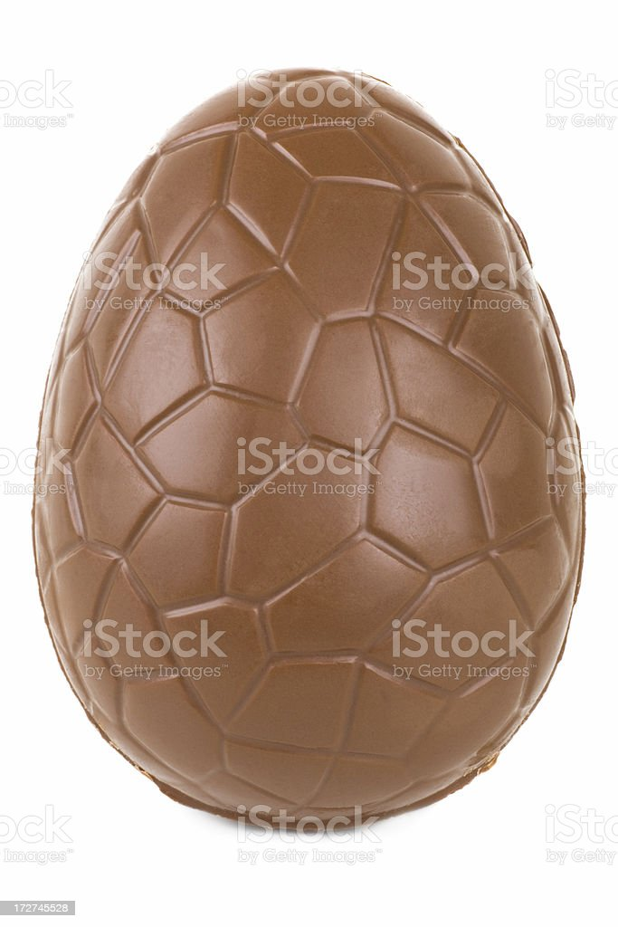 Chocolate Egg standing royalty-free stock photo