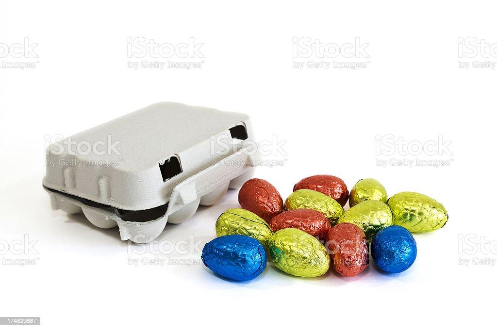 chocolate eggs royalty-free stock photo