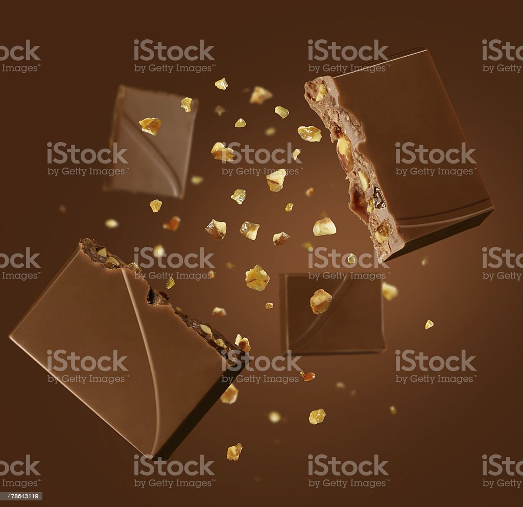 chocolate explosion stock photo