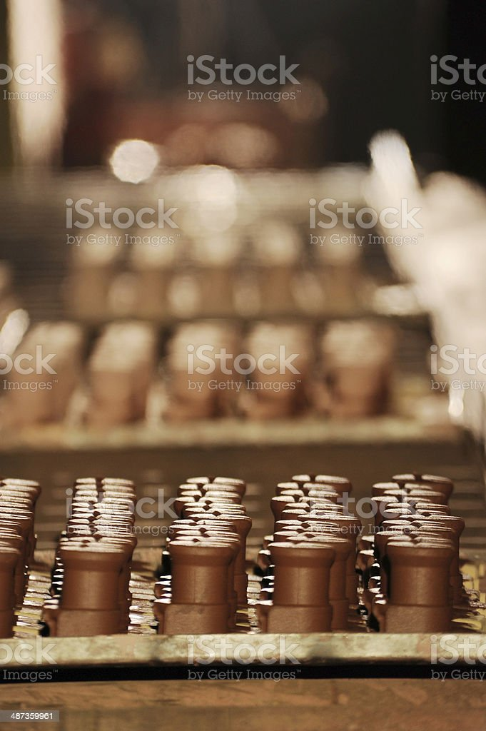 Chocolate factory stock photo