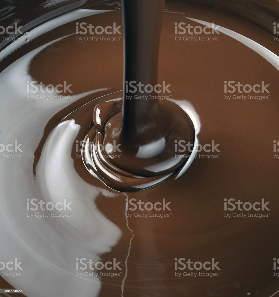 chocolate falling from above royalty-free stock photo
