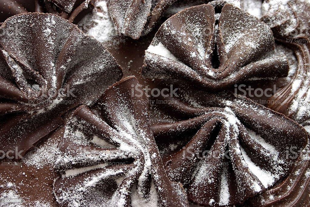 Chocolate fans stock photo