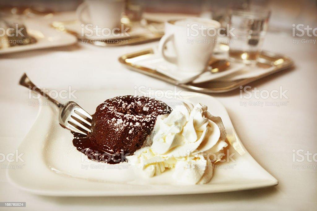 Chocolate fondant royalty-free stock photo