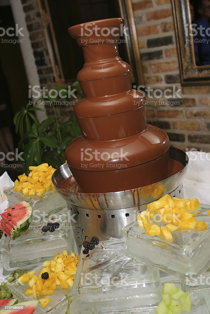 Chocolate Fountain royalty-free stock photo
