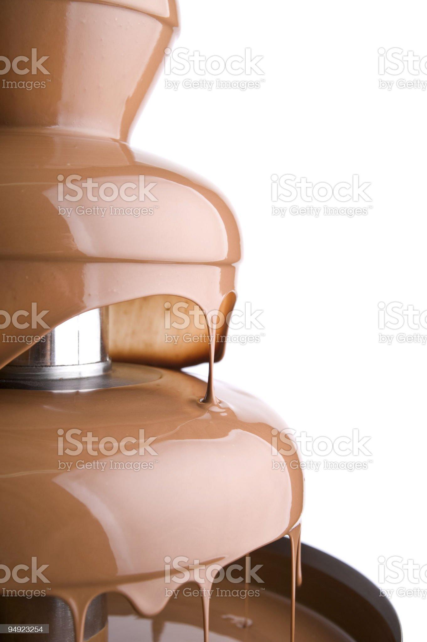 Chocolate fountain royalty-free stock photo
