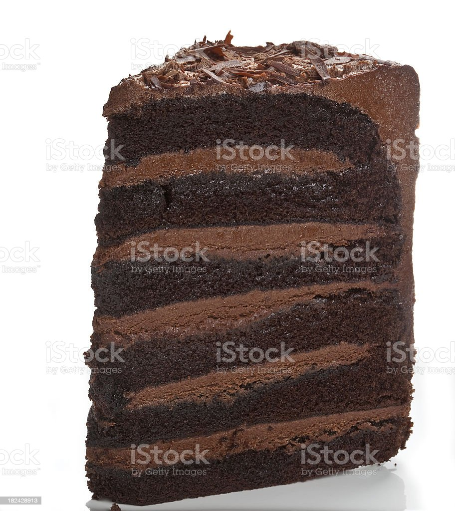 Chocolate Fudge Cake stock photo