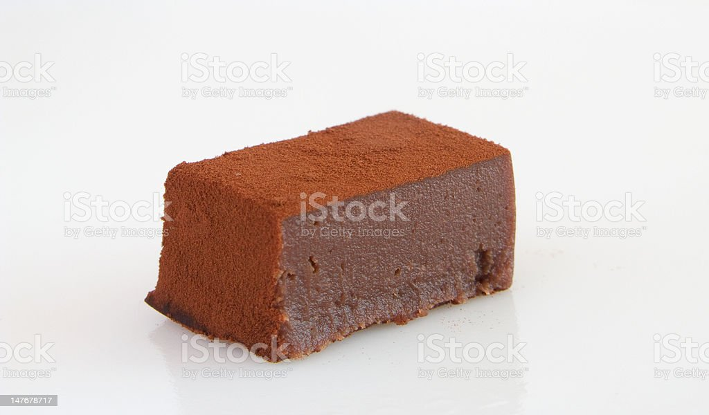 Chocolate ganache dusted with cocoa powder royalty-free stock photo