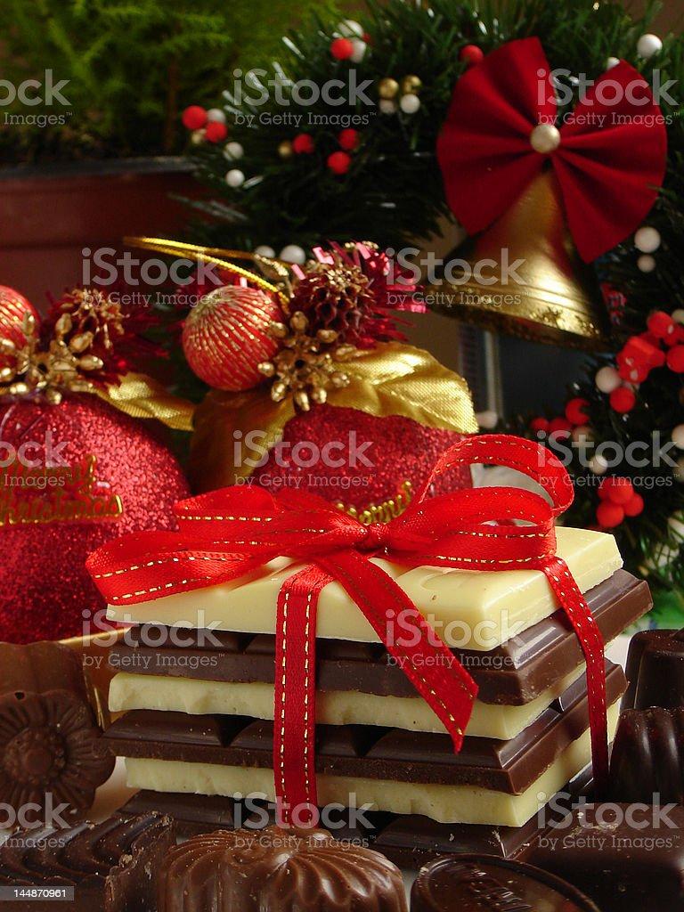 Chocolate gift royalty-free stock photo