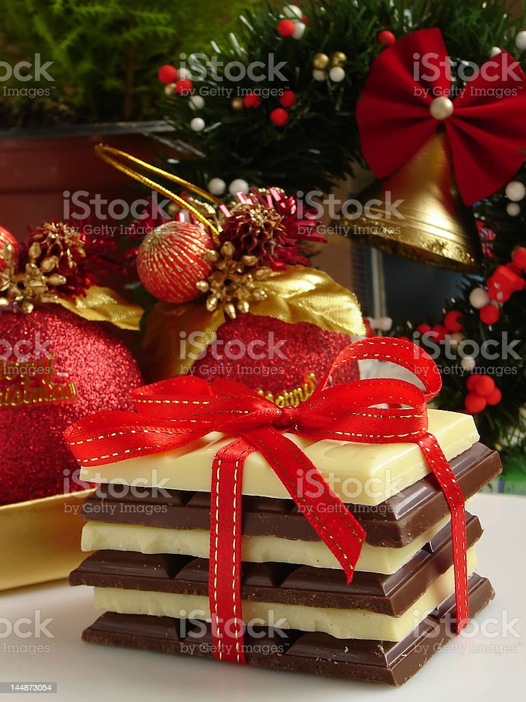 Chocolate gift royalty-free stock photo