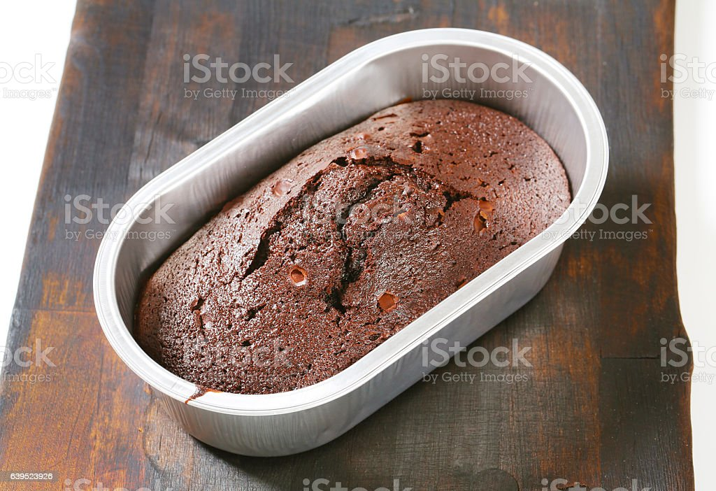 Chocolate ginger cake stock photo