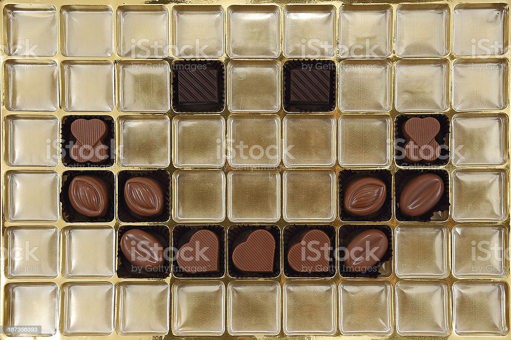 Chocolate grids stock photo