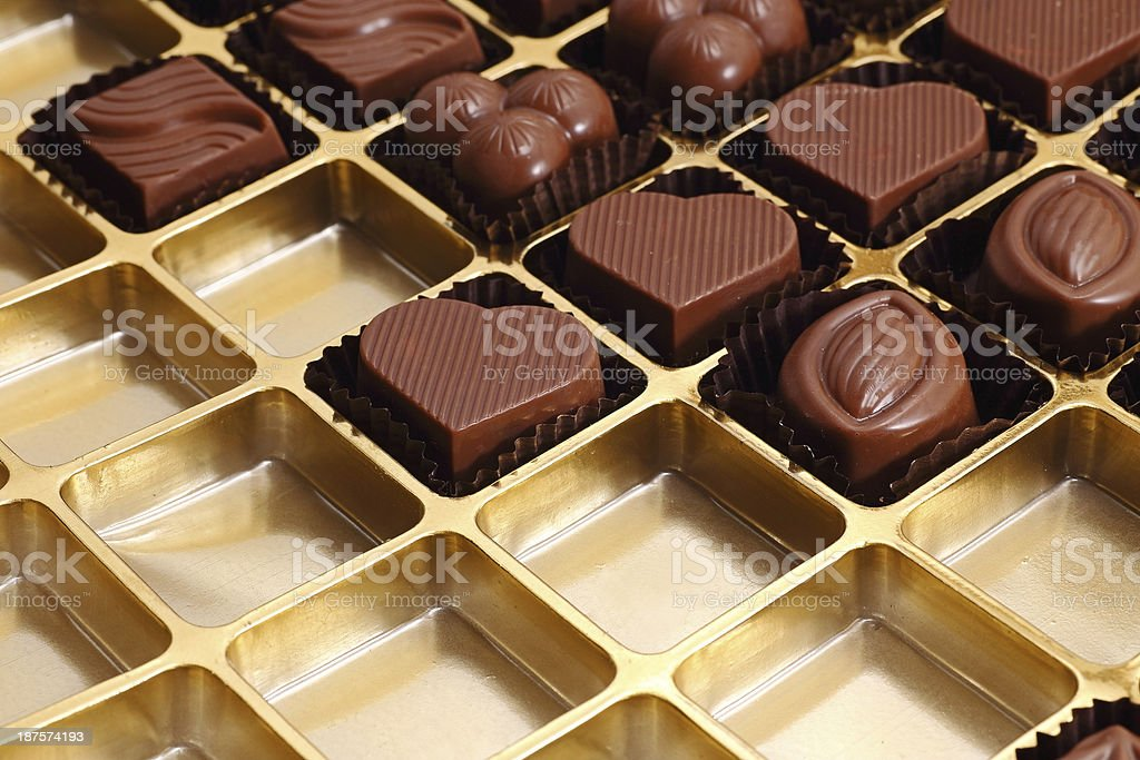 Chocolate grids royalty-free stock photo