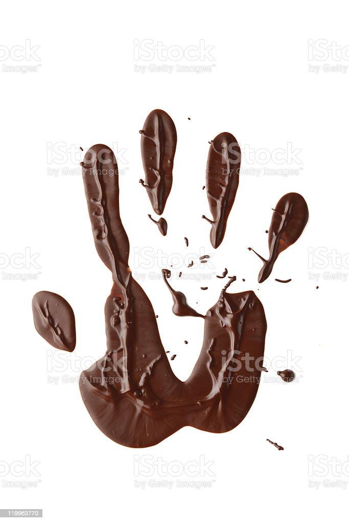 chocolate hand royalty-free stock photo