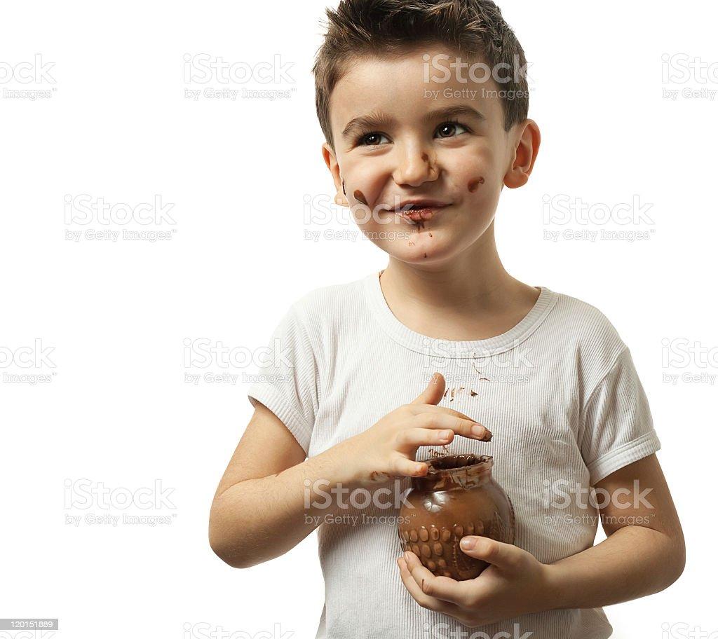Chocolate Happiness royalty-free stock photo