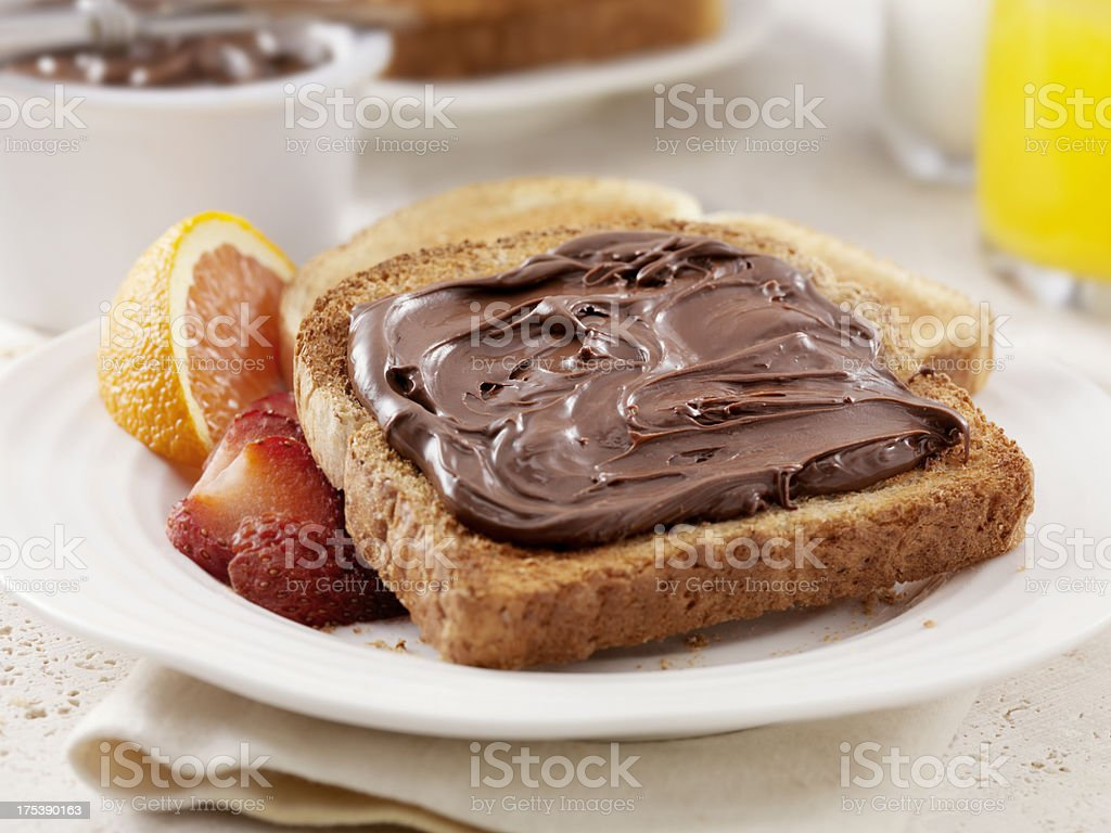 Chocolate Hazelnut Spread stock photo