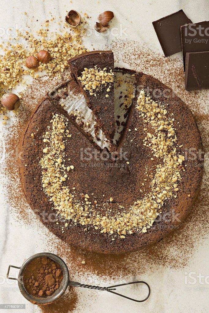 Chocolate Hazelnut Torte stock photo