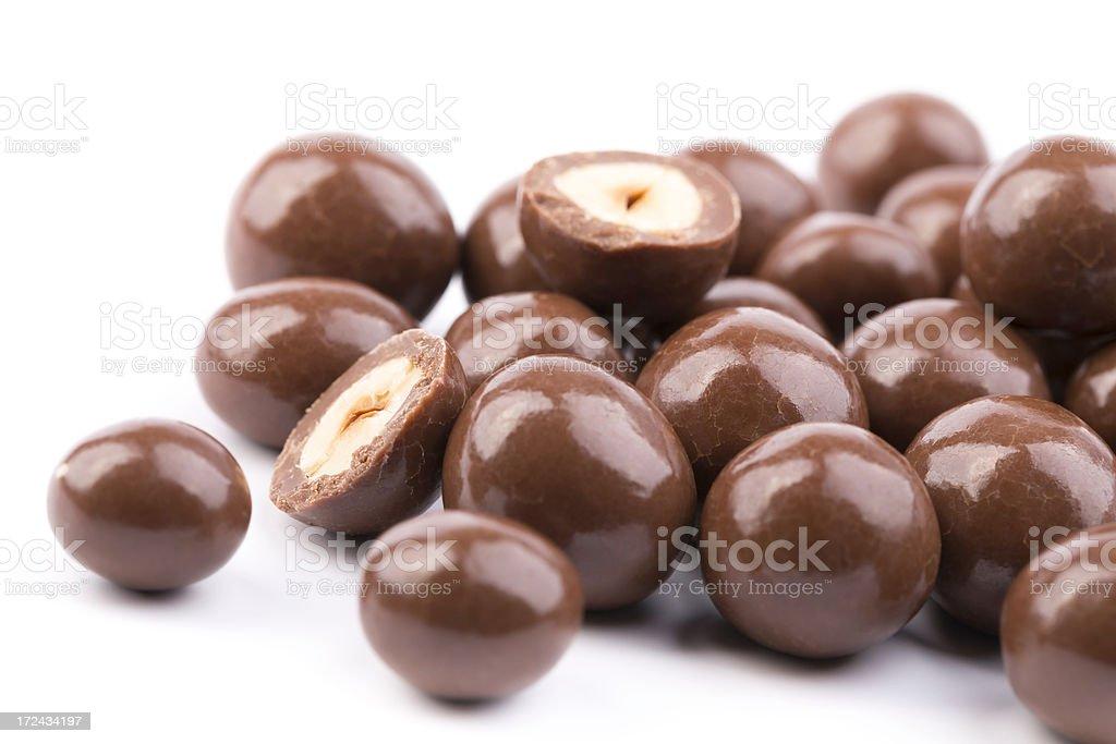 chocolate hazelnuts royalty-free stock photo