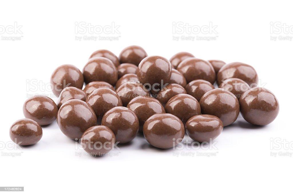 chocolate hazelnuts stock photo