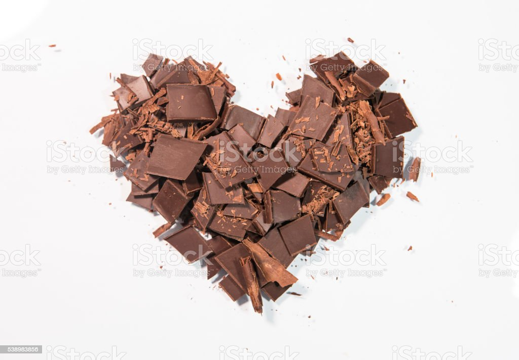 Chocolate Heart Coeur en chocolat stock photo