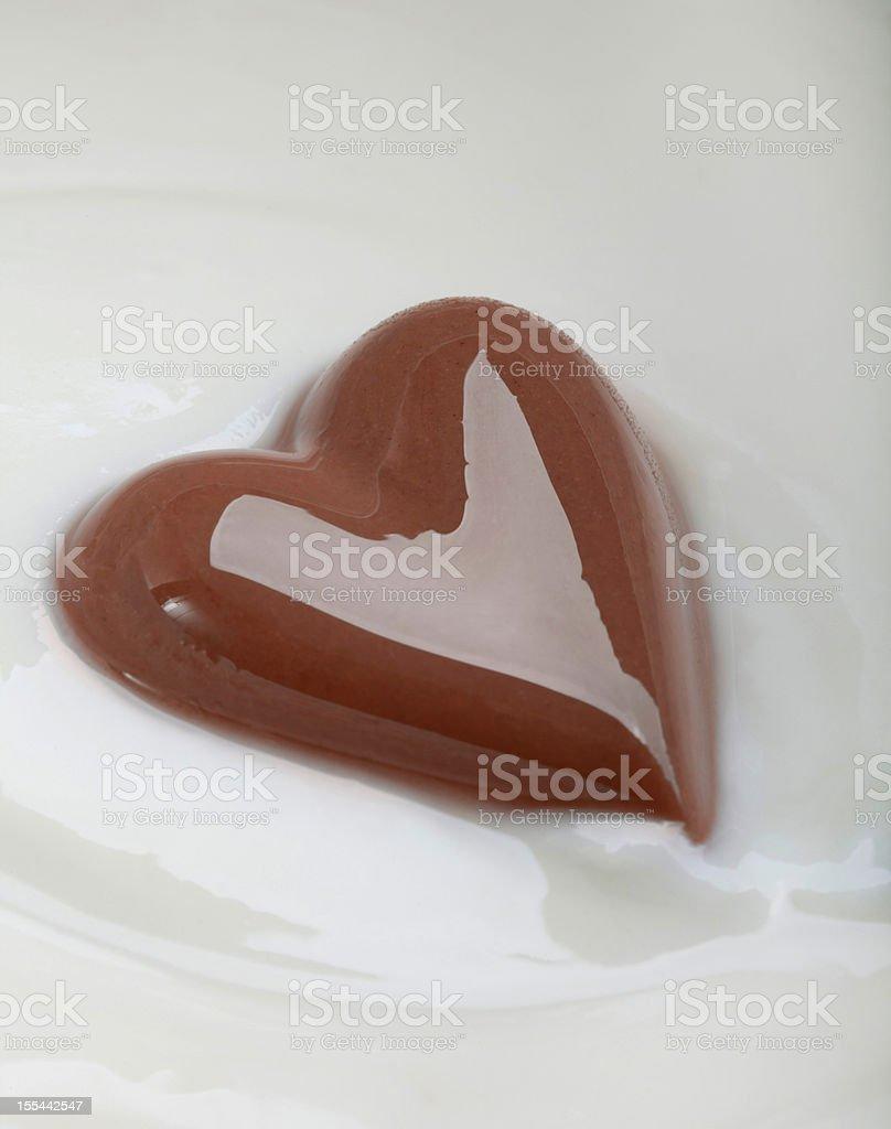 Chocolate heart royalty-free stock photo
