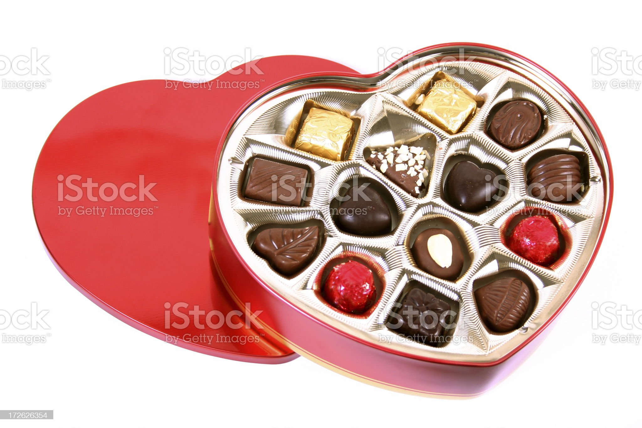 Chocolate Heart royalty-free stock photo