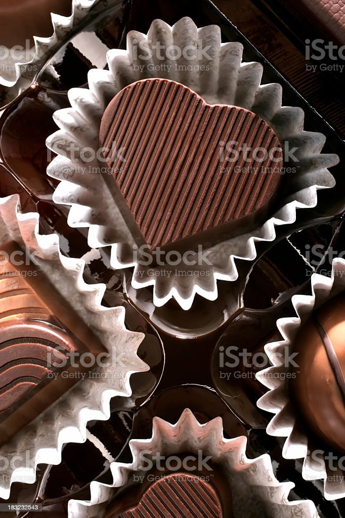 chocolate heart stock photo