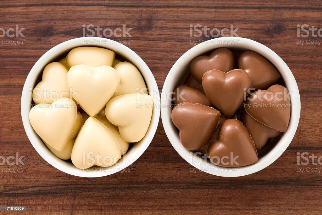 Chocolate hearts royalty-free stock photo