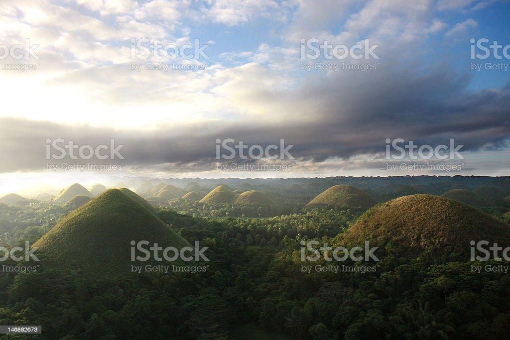 Chocolate Hills, Bohol Island, Philippines stock photo