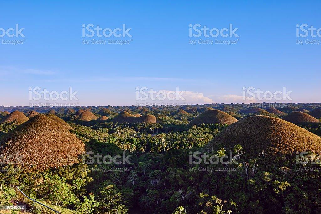 Chocolate hills Bohol Philippines stock photo