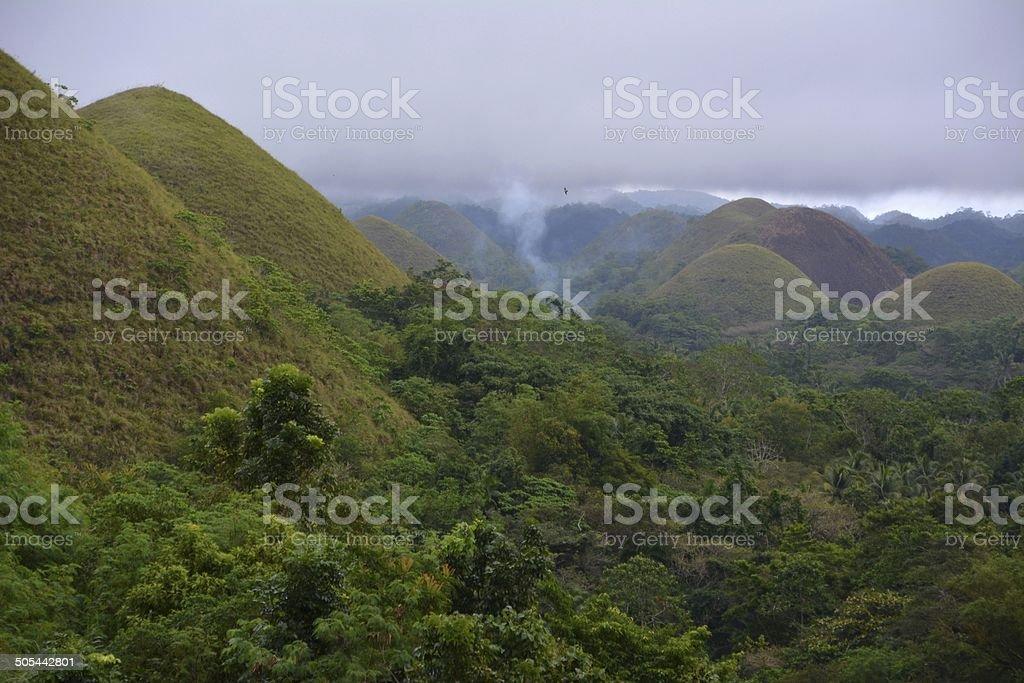 Chocolate Hills, Bohol Philippines stock photo